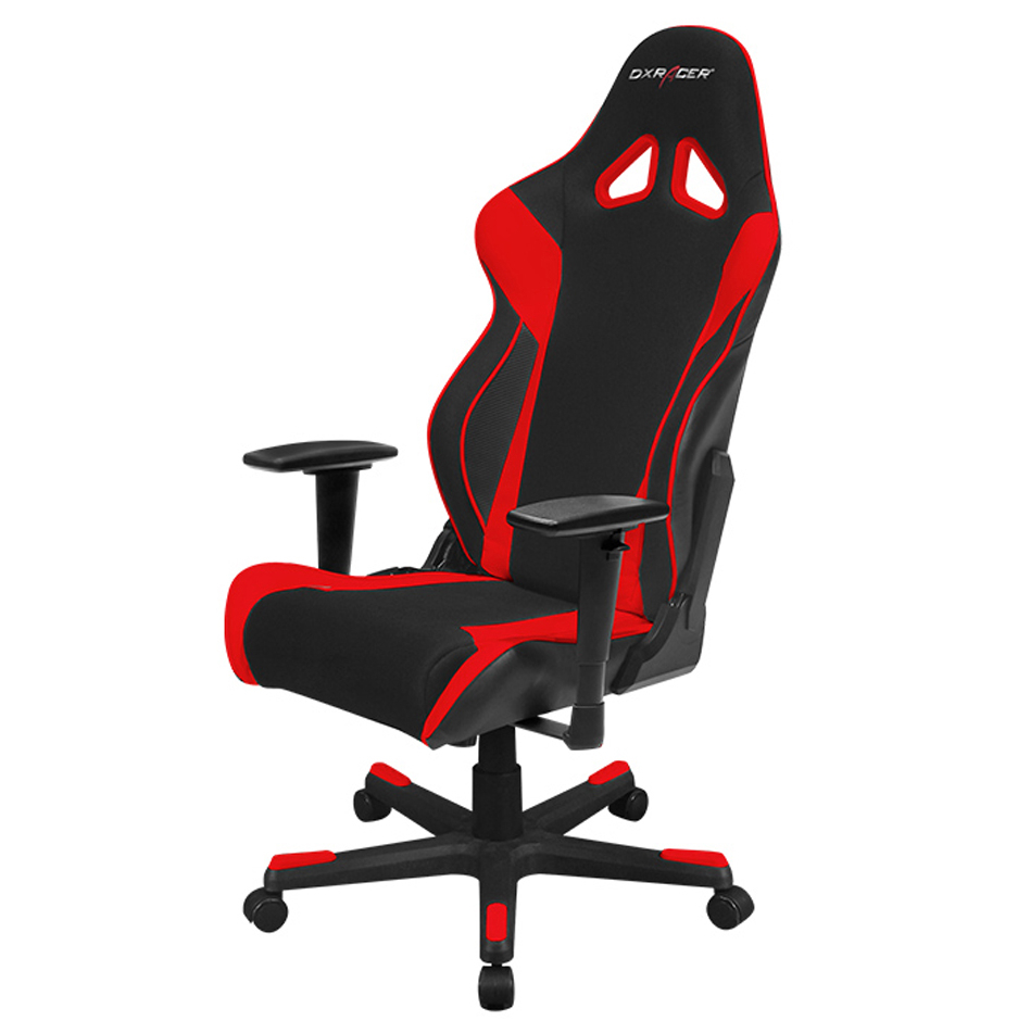 dxracer oh rw106 nr high back x rocker gaming chair strong mesh pu black red chairs. Black Bedroom Furniture Sets. Home Design Ideas