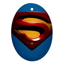Oval Ornaments - Heroes Superman Procelain Ornament (Oval) Christmas - $3.99