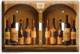 Tuscan Kitchen Italian Dining Wine Bottles Triple Light Switch Wall Plate Cover - $14.39