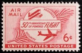 1953 6c Powered Flight, 50th Anniversary Scott C47 Mint F/VF NH - $0.99