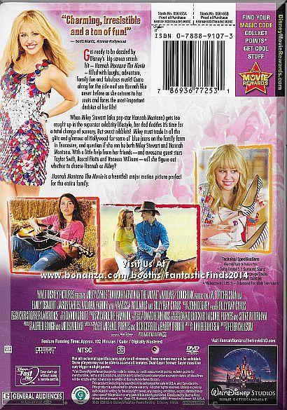 dvd hannah montana the movie 2009 miley cyrus
