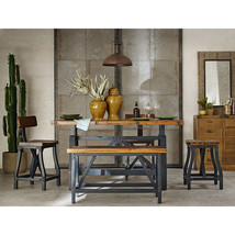 INK+IVY Lancaster 5pc Dining Gathering Rustic and Industrial Table Set - £1,094.47 GBP