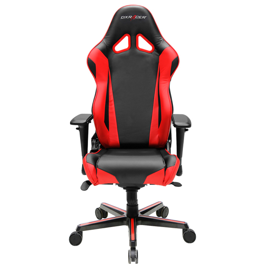 DXRacer OH/RV001/NR High-Back Racing Style Office Chair Vinyl+PU(Black/Red)