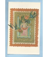 Victorian Valentine Love's Message Postcard Cupid's Apron Full of Hearts... - $5.00