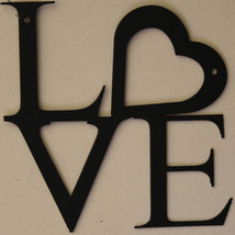 LOVE with Heart Metal Wall Art Home Decor - $30.00