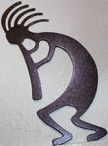 Kokopelli Oval Scene Metal Wall Art Home Decor Copper Vein - $15.00