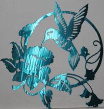 Feeding Hummingbird Metal Wall Art Home Decor - $80.00