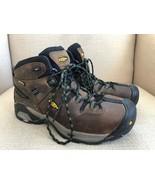 KEEN Detroit XT Brown Waterproof Steel Toe Mid Hiking Boots Mens US 8.5E... - $56.09