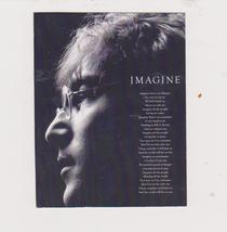 Beatles Imagine John Lennon Vintage 11X14 Music Memorabilia BW Photo - $13.95