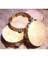"TEN (10) Church TAMBOURINES Size 8"" CP Brand New Single Row Jingles Goat... - $112.27"