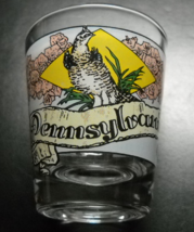 Pennsylvania Shot Glass Full Color Wrap on Clear Glass Liberty Bell Amish Couple - $6.99