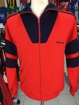 Vintage Original Trainingsjacke Adidas (L) Rot Blau Jacket Track Jacke - $47.62