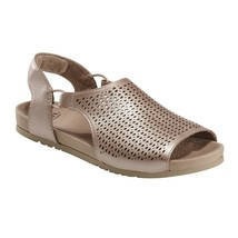 Earth Leather Perforated Sandals - Linden Laveen, Blush, 7 M - $45.53