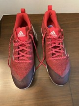 NEW Adidas Poweralley 5 Core Baseball Cleats Metal Men's Red/Blk/Silver ... - $30.00