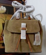 NWT MICHAEL KORS Romy Medium Suede Backpack  Leather Desert MSRP $398 - $284.99