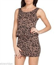 Brown Cheetah style  Animal Women's Peplum Poly Spandex Chesley label - $39.99