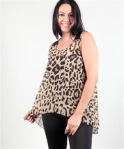 Animal print top Cheetah or Jaguar blouse in plus sizes 1X 2X 3X Caren S... - $26.99