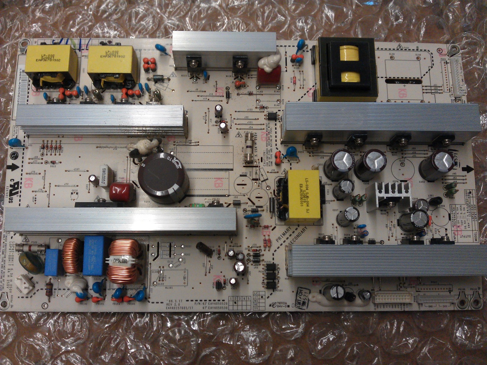 EAY4050520 Power Supply Board From LG 42LG70-UA AUSQLJR LCD TV