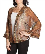 Jaguar Cheetah Peacock blend print sheer cardigan wrap USA made