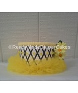 Black and Yellow Bumble Bee Tutu Themed Baby Girl Shower 1 Tier Diaper C... - $11.99