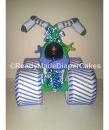 Blue  and Green Themed Baby Shower Four Wheeler Diaper Cake Table Center... - $50.00