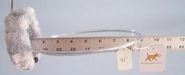 "Blind Dog Bumper Collar 9 1/2"" neck, silver gray minky fur  LARGER hoop guard - $39.99"