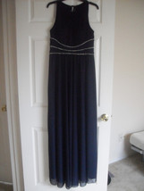 Jessica Howard New Navy Jeweled Full Length Halter Gown   10     $129 - €45,30 EUR