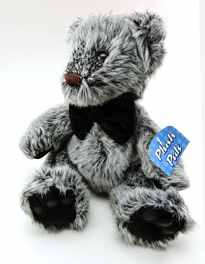 36aa8b1426 Vintage Kids of America Corp Teddy Bear Black White Brindle Stuffed Animal  Toy