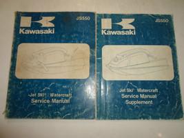 1982 1983 Kawasaki JS550 Jet Ski Watercraft Service Shop Manual 2 VOL SET OEM - $118.79