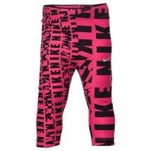 Girls' Nike Club Allover Print Capris (6 LITTLE KIDS, DK HYPER PINK) - $24.97