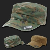 WOODLAND DIGITAL REVERSIBLE FLAT TOP CAMO CADET HAT CAP - $34.64