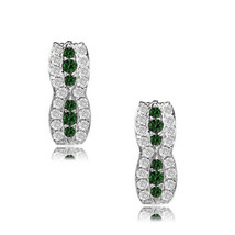 14k White Gold Birthstone Fancy Leverback Earrings 12 Month Gemstone Ite... - $135.70