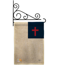 Christian Burlap - Impressions Decorative Metal Fansy Wall Bracket Garde... - $33.97
