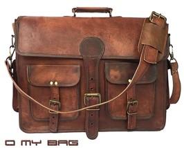 """New 18"""" Men's Vintage Brown Leather Messenger Shoulder Laptop Bag computer - $64.79+"""