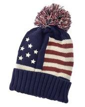 USA American Flag Red, White & Blue Stars & Strips Pom Pom Beanie - ₨630.74 INR