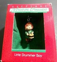 Vintage 1988 Hallmark Keepsake Miniature Ornament  Little Drummer Boy - $10.86