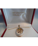 """""""TREE of LIFE"""" 18K GOLD over STERLING SILVER with GEMSTONES Pendant and ... - $35.00"""