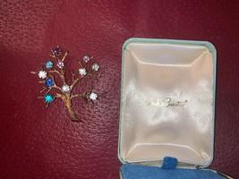 Vintage 1969 Sarah Coventry Rhinestone Tree Pin Brooch Sarah's Mothers Day - $24.74