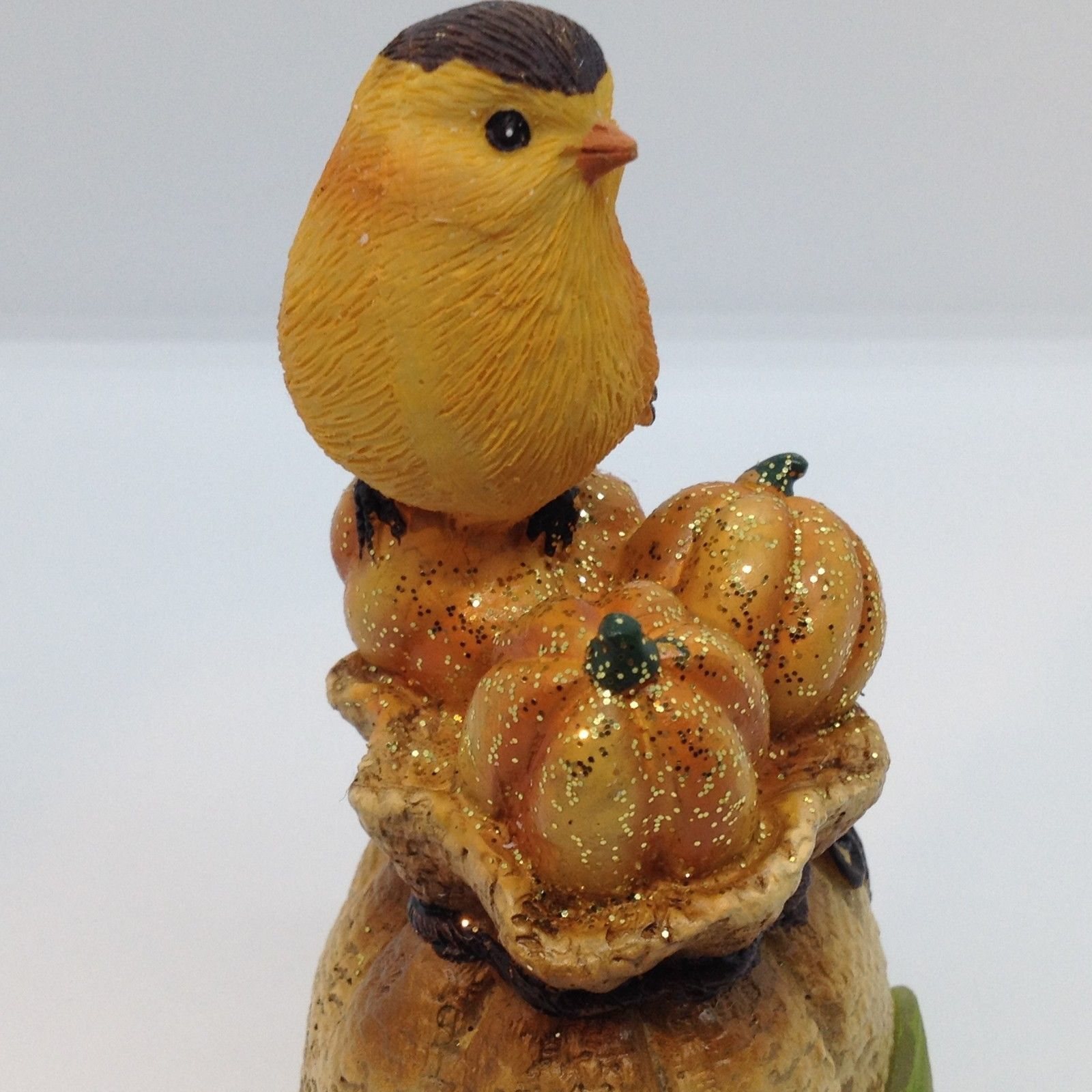 HARVEST BLESSINGS BIRD FIGURINE Light Up Fall Thanksgiving Home Decor Gift 6""