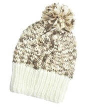 Women's Thick Ivory & Brown Pom Pom Cable Knit ... - $8.99