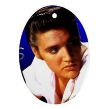 Memorabilia Oval Ornament - Elvis Presley Procelain Ornament (Oval) Chri... - $3.99