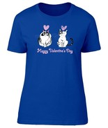 Happy Valentines Day Cat Women's Tee -Image by Shutterstock - $14.84