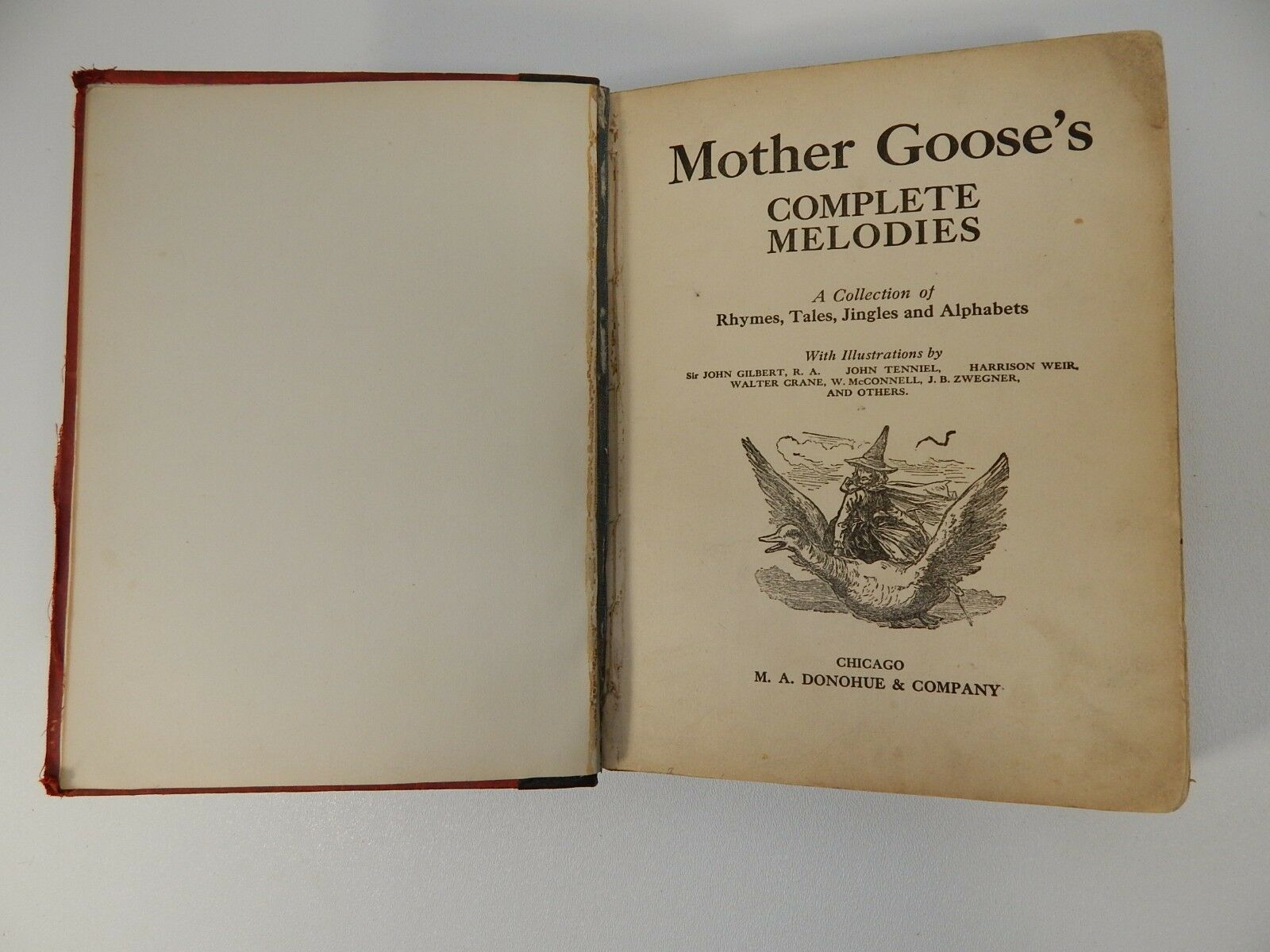 1892 BOOK MOTHER GOOSE'S COMPLETE MELODIES Antique 126 yr old Black Americana