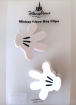 Disney Parks Mickey Mouse Hand Glove Bag Clips Set of 2 NEW - $15.90