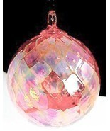 GlassEye Studio HANDBLOWN Purple Diamond Facet ORNAMENT - £16.11 GBP
