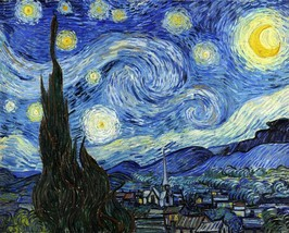 Stretched Canvas - Starry Night Painting Vincent van Gogh Reproduction - $118.99+
