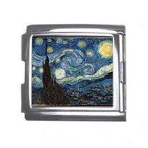 Van Gogh Starry Night 18mm Mega Link Italian Charm - $2.85
