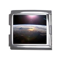 Sun Over Earth Outer Space 18mm Mega Link Italian Charm - $2.85