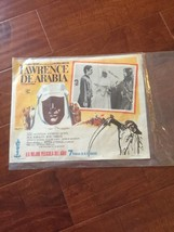 Vintage Lobby Card LAWRENCE OF ARABIA rare SPANISH POSTER Mexico Print 1... - $19.89