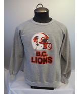 Retro BC Lions (CFL) Sweater - Helmet Grpahic - By Champion - Men's Large  - $55.00